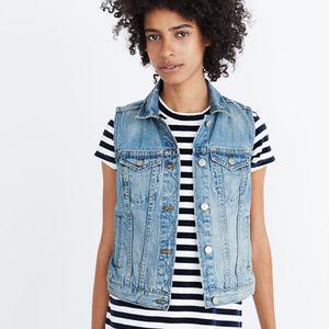 Madewell Denim Vest / Jean Jacket Vest Size Large